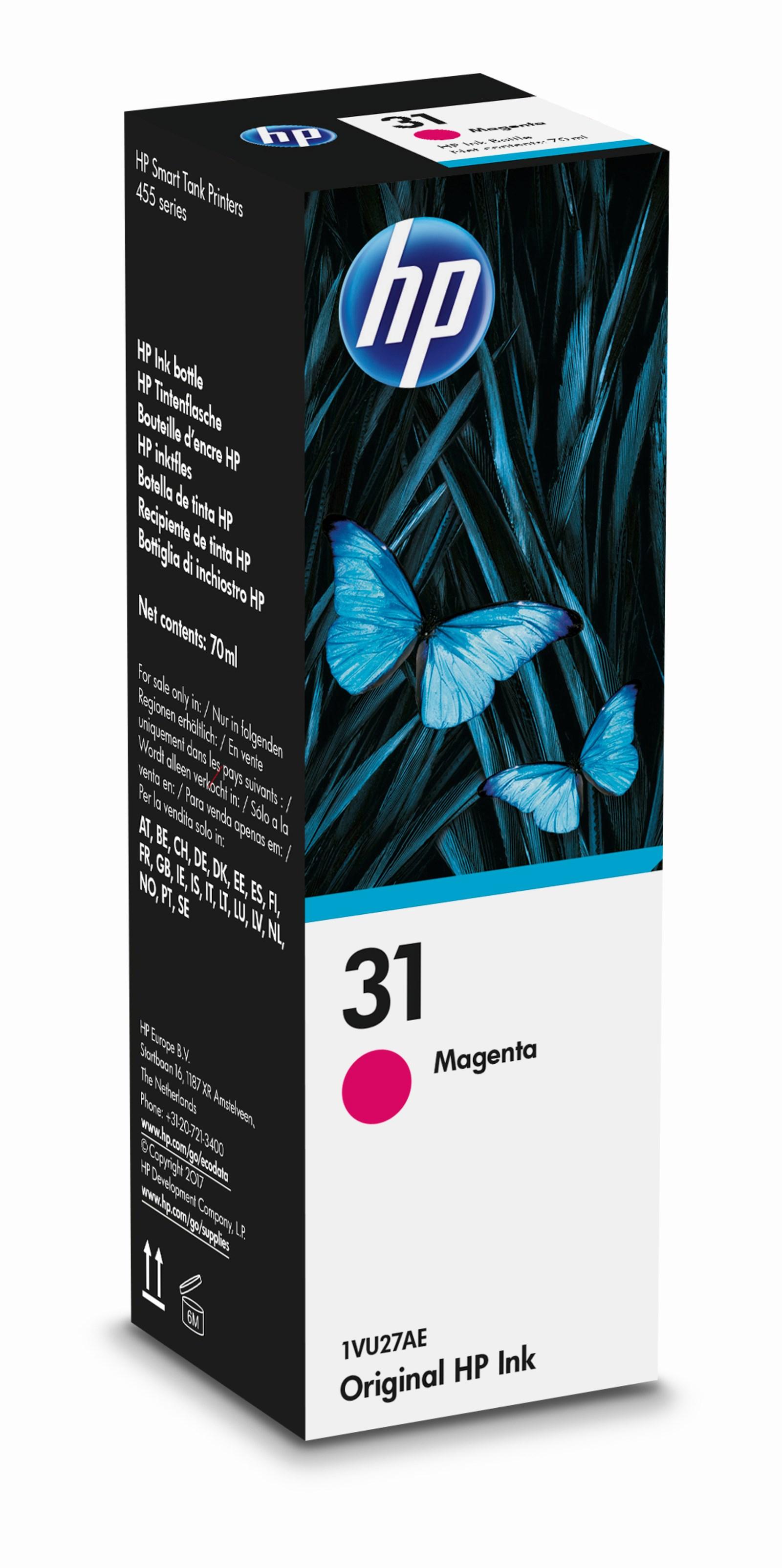 HP 31 magenta refill blæk 70ml original
